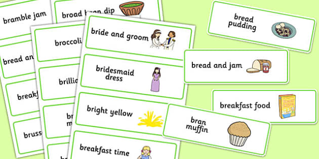 Three Syllable 'BR' Word Cards - br sound, syllable, word cards