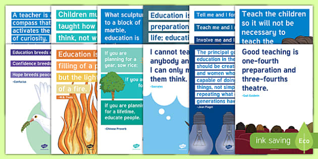 World Teachers' Day Inspirational Quotes Display Posters-Irish