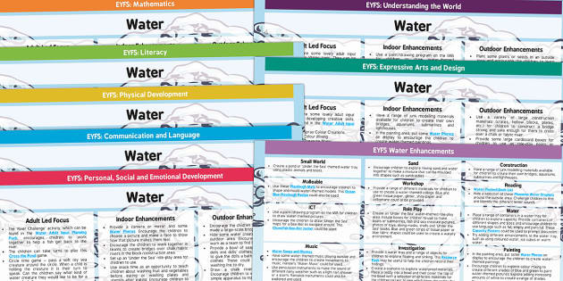 EYFS Water Themed Lesson Plan and Enhancement Ideas - early years lessons, lesson ideas