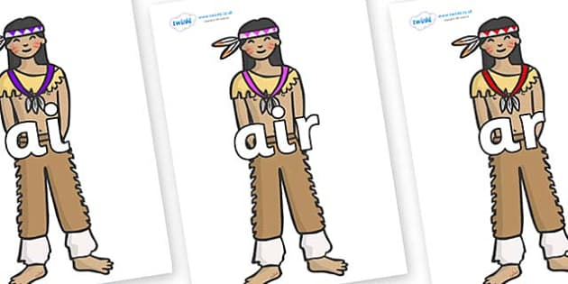 Phase 3 Phonemes on Native Americans - Phonemes, phoneme, Phase 3, Phase three, Foundation, Literacy, Letters and Sounds, DfES, display
