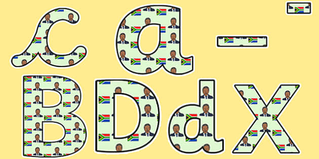 Nelson Mandela Themed Display Lettering - nelson mandela, display lettering, themed lettering, classroom lettering, lettering, a4  lettering, display