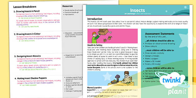 PlanIt - Art LKS2 - Insects Planning Overview - art, lesson plan
