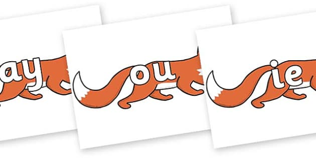 Phase 5 Phonemes on Hullabaloo Fox to Support Teaching on Farmyard Hullabaloo - Phonemes, phoneme, Phase 5, Phase five, Foundation, Literacy, Letters and Sounds, DfES, display