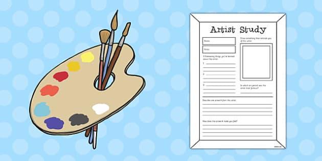 Artist Study Fact Sheet - artist, study, fact sheet, fact, sheet