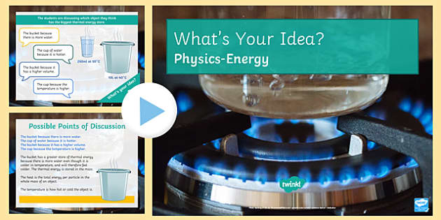 KS3 Energy What's Your Idea? PowerPoint