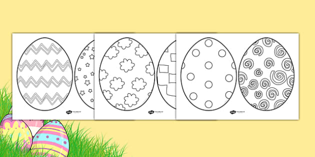 Easter Egg Sheets - Easter Egg, Easter Egg Resource, Foundation, KS1, Easter, Easter resource, Easter bible, Easter teaching resource, Easter Sunday, Colouring Easter Eggs, Easter, bible, egg, Jesus, cross, Easter Sunday, bunny, chocolate, hot cr