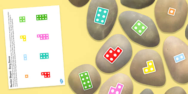 Number Shapes to Twenty Story Stones - early years, visual aid, role play, independent, outdoor