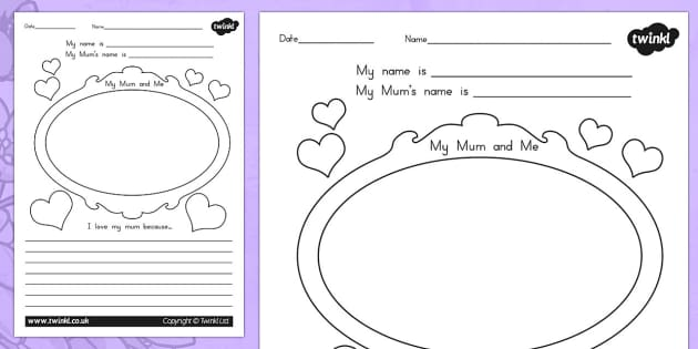 Mothers Day Mothers Day Worksheet - mum, mom, mothers day, mother