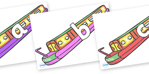 Phoneme Set on Narrow Boats - Phoneme set, phonemes, phoneme, Letters and Sounds, DfES, display, Phase 1, Phase 2, Phase 3, Phase 5, Foundation, Literacy