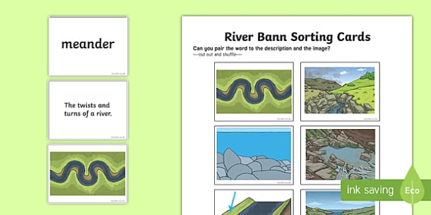Features of the River Bann Sorting Cards
