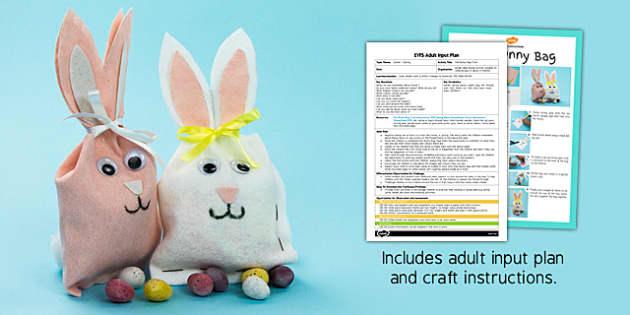 Felt Bunny Bag Craft EYFS Adult Input Plan And Craft Pack - craft, pack