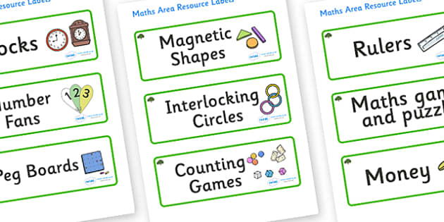 Yew Tree Themed Editable Maths Area Resource Labels - Themed maths resource labels, maths area resources, Label template, Resource Label, Name Labels, Editable Labels, Drawer Labels, KS1 Labels, Foundation Labels, Foundation Stage Labels, Teaching La