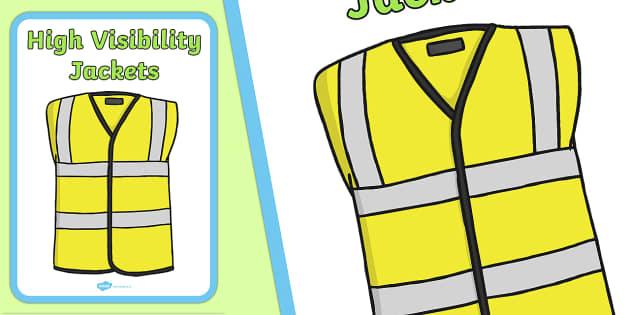 High Visibility Jacket Display Sign - display, sign, visibility