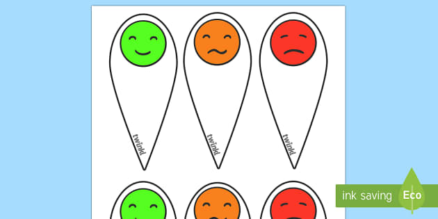 Emotion fans - Communication, communication cards, traffic lights, foundation, autism, SEN