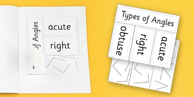 Angle Activity Foldable Visual Aid Activity - angle, visual aid, Angles, acute, right, obtuse