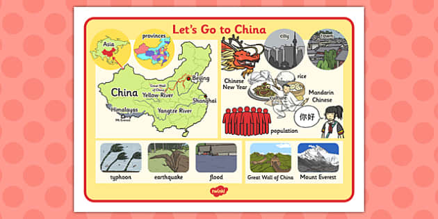 Let's Go to China Word Mat - china, word mat, word, mat, lets go