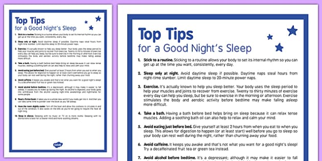 Top Tips for a Good Night's Sleep Adult - top tips, good night sleep, good, sleep, adult