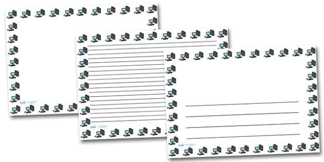 Computer Landscape Page Borders- Landscape Page Borders - Page border, border, writing template, writing aid, writing frame, a4 border, template, templates, landscape
