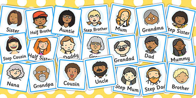 Family Members Role Play Badges - family, role play, badges, badge, ourselves, mum, dad, brother sister, grandpa, grandma, uncle, aunt,  KS1, ourselves, all about me, my body, senses, emotions, family, body, growth, granpa