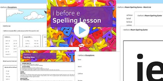 I Before E Resource Pack - I before e, writing rules, spelling