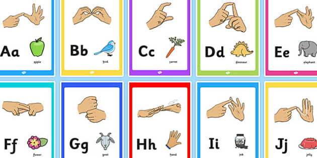 British Sign Language Image Display Posters - display, posters