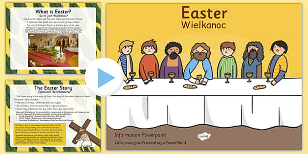 Easter Information PowerPoint Polish Translation - polish, easter, info, religion, RE, ppt