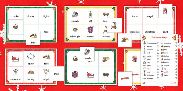 Christmas Bingo - christmas, bingo, game, activity, celebrate