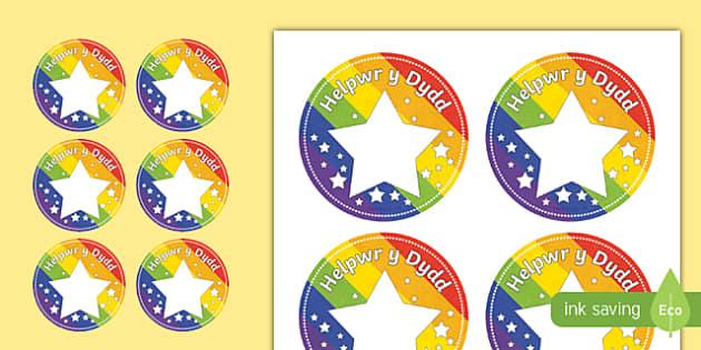 Helpwr y Dydd Star Badges