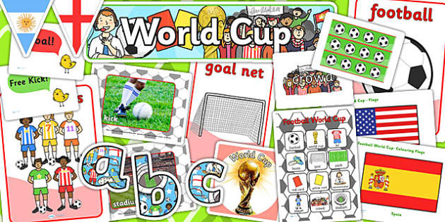 Football World Cup Display Pack - foot ball, sports, sport, pe