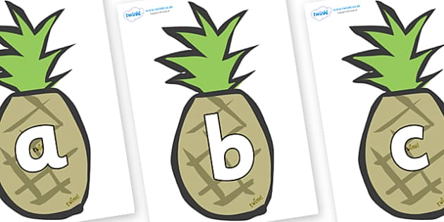 Phoneme Set on Pineapples - Phoneme set, phonemes, phoneme, Letters and Sounds, DfES, display, Phase 1, Phase 2, Phase 3, Phase 5, Foundation, Literacy