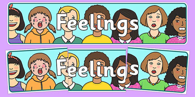 Feelings Display Banner - Ourselves display,  KS1, display banner, ourselves, all about me, my body, senses, emotions, family, body, growth