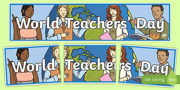 World Teachers' Day Display Banner-Irish
