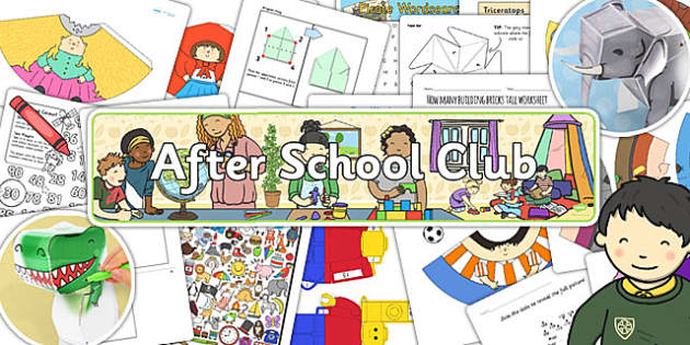 After School Club Activity Resource Pack - after, school, club