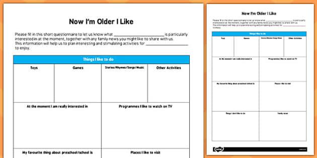 Childminders Parent Questionnaire for Older Children - parent