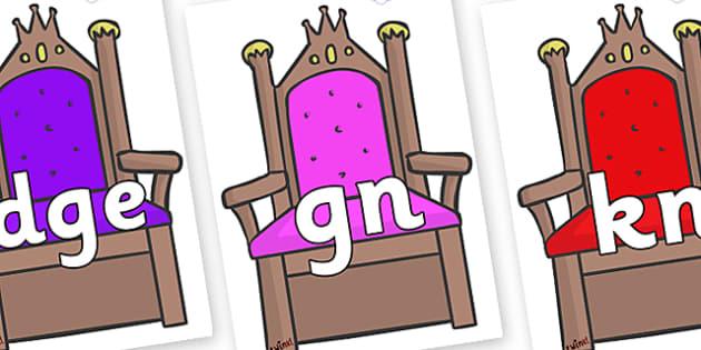Silent Letters on Thrones - Silent Letters, silent letter, letter blend, consonant, consonants, digraph, trigraph, A-Z letters, literacy, alphabet, letters, alternative sounds