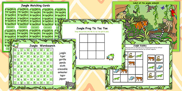 Jungle Themed Interactive Flipchart Activity Pack - activities