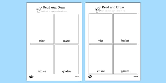 Beatrix Potter - The Tale of Benjamin Bunny Read and Draw Worksheet - beatrix potter, benjamin bunny