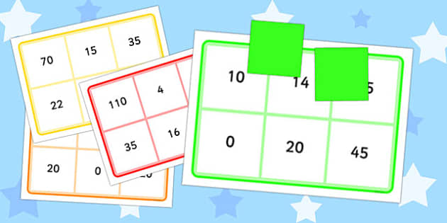 Multiplication By 2, 5 and 10 Bingo - multiplication, 2, 5, 10, bingo