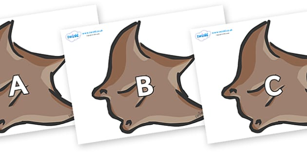 A-Z Alphabet on Manta Rays - A-Z, A4, display, Alphabet frieze, Display letters, Letter posters, A-Z letters, Alphabet flashcards