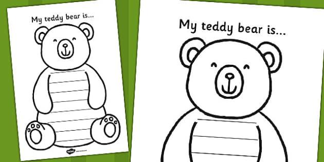 My Teddy Bear is Worksheet - bear, teddy bear, worksheet, sheet