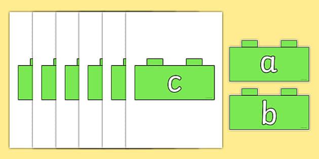 Phase 2 Phonemes on Building Bricks - phase 2, phonemes, building, bricks