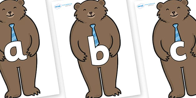 Phoneme Set on Daddy Bear - Phoneme set, phonemes, phoneme, Letters and Sounds, DfES, display, Phase 1, Phase 2, Phase 3, Phase 5, Foundation, Literacy
