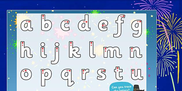 Bonfire Night Themed Letter Writing Worksheet - writing aid