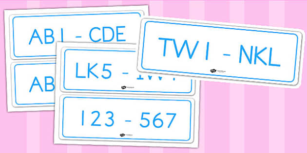 Registration Plates - cars, transport, role play, roads, safety