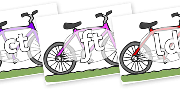Final Letter Blends on Bikes - Final Letters, final letter, letter blend, letter blends, consonant, consonants, digraph, trigraph, literacy, alphabet, letters, foundation stage literacy