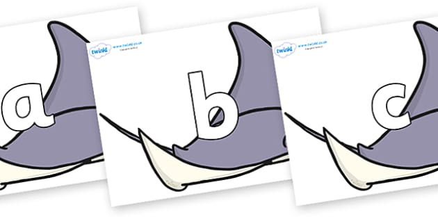 Phoneme Set on Manta Rays - Phoneme set, phonemes, phoneme, Letters and Sounds, DfES, display, Phase 1, Phase 2, Phase 3, Phase 5, Foundation, Literacy