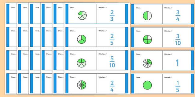Fractions Loop Cards - fractions bricks, fraction, fractions, decimal, percentage, one whole, half, third, quarter, fifth, proportion, part, numerator, denominator, equivalent, 1/3, 1/2, 1/4