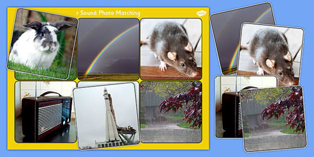 Initial r Sound Photo Matching Board and Cards - sounds, phonics