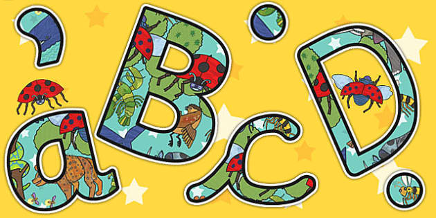 Themed A4 Display Lettering to Support Teaching on The Bad Tempered Ladybird - letters