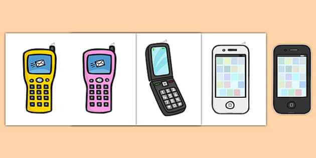 Mobile Phone Role Play Shop Cut Outs - mobile phone, shop, cut outs, cutting, cut, out, shopping, activity, telephone, ring, call